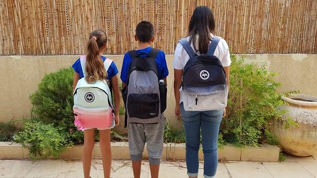 תלמידים ביום הראשון ללימודים השני לספטמבר (צילום: יאיר זעפרני)