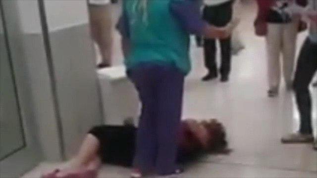 מאבטח תקף אישה בבית החולים וולפסון ()