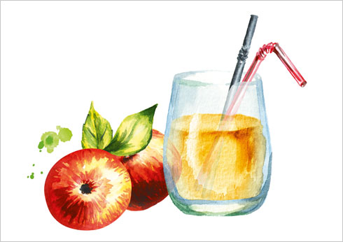 ערבבו כף חומץ תפוחים במים חמימים (איור: Shutterstock)