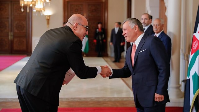 King Abdullah II and Amir Weissbrod