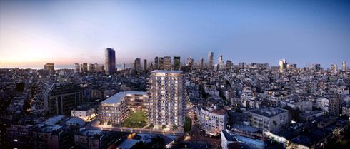 """""""פלורנטין סקוור"""", תמהיל דירות מאפשר, לדברי האדריכל, מגוון תושבים (הדמיה: 3dvision)"""