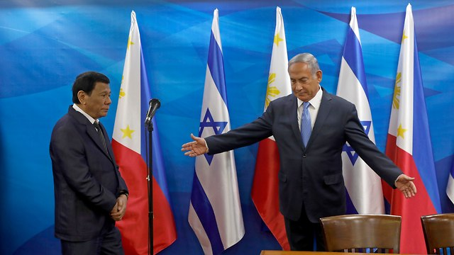 PM Netanyahu and President Rodrigo Duterte (Photo: EPA)