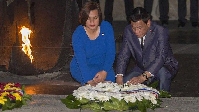 Philippines President Rodrigo Duterte at Yad Vashem (Photo: Ido Erez)