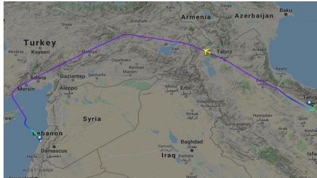 Fars Air Qeshm's irregular flight route