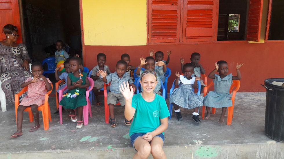 מאור וילדי כיתת הזאטוטים בכפר דנו שבגאנה