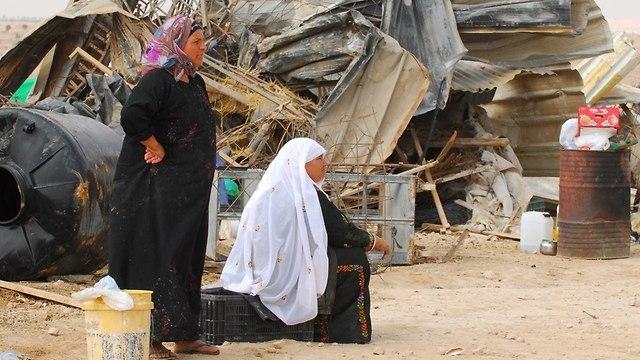 מנהל מקרקעי ישראל הרס הריסת הריסה כפר בדואי בדואים אל עראקיב אל עראקיב (צילום: הרצל יוסף)