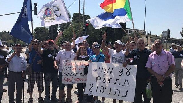ההפגנה מחוץ ללשכת רה