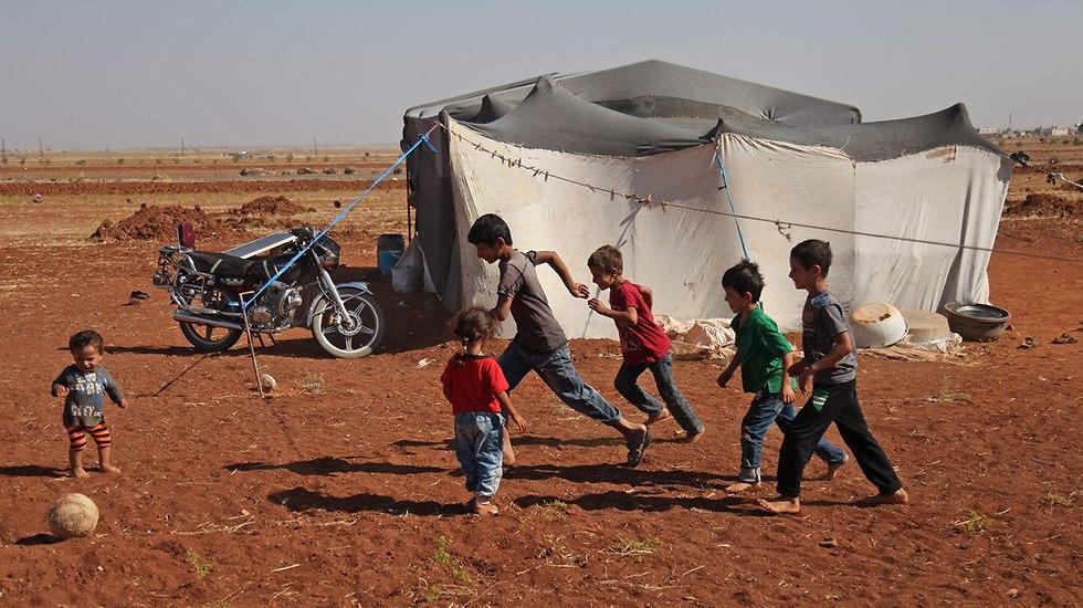 Refugee children in Idlib  (Photo: AFP)