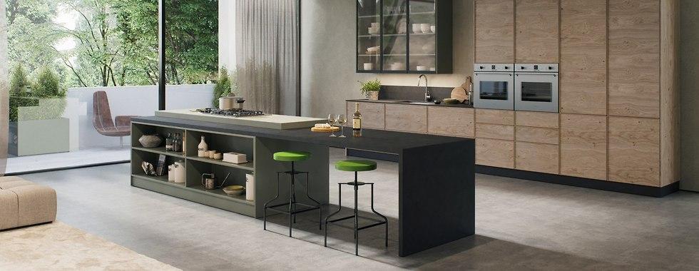המטבח מתחבר עם חדר המגורים ומהווה את תעודת הזהות של הבית. הדמיות: 3dvision (צילום: באדיבות רגבה)