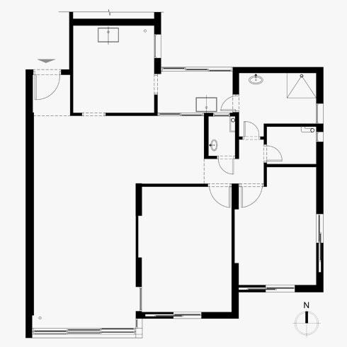 תוכנית הדירה המקורית (תוכניות: אדר' אפרת וינרב)