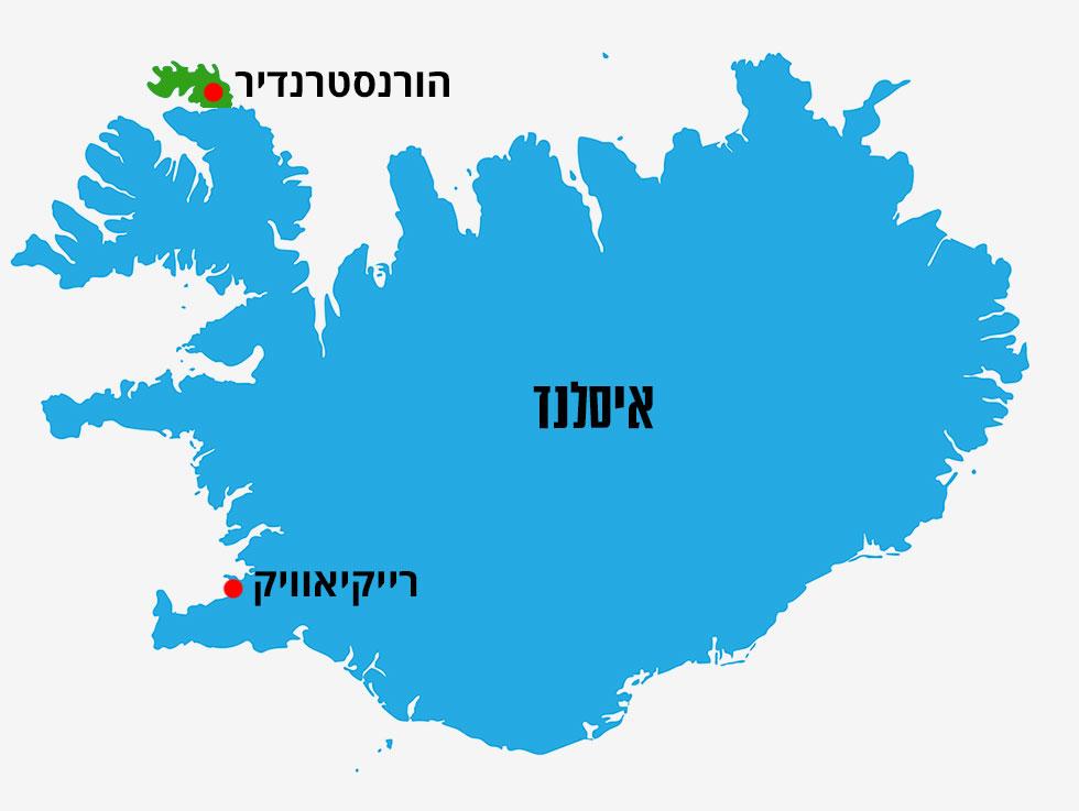 מפה איסלנד (צילום: shutterstock)