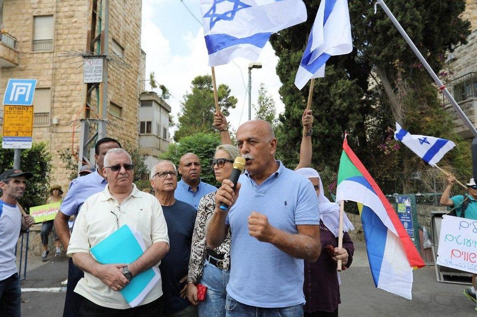 Митинг протеста против Закона о национальном характере государства . Фото: Хен Галили