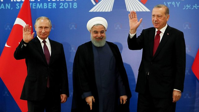 Iranian, Russian and Turkish summit meeting (Photo: AFP)