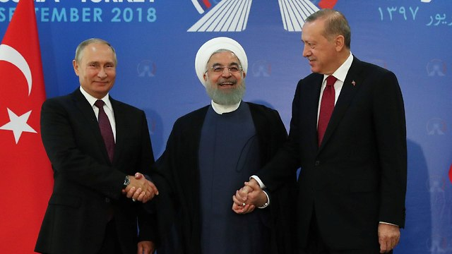 Left to right: Putin, Rouhani, and Erdogan (Photo: Reuters)