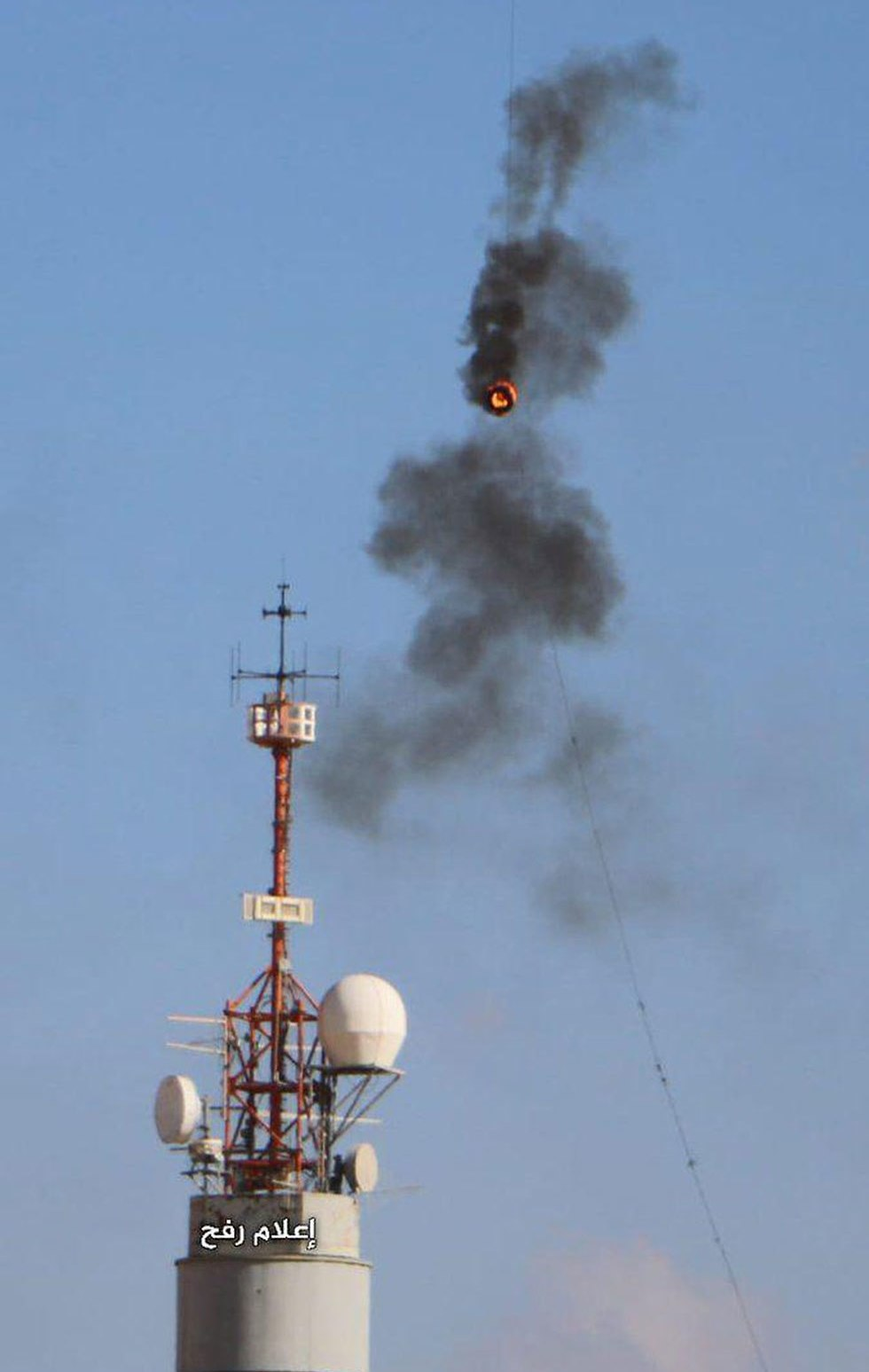 Fire breaks near communication tower amid incendiary kite