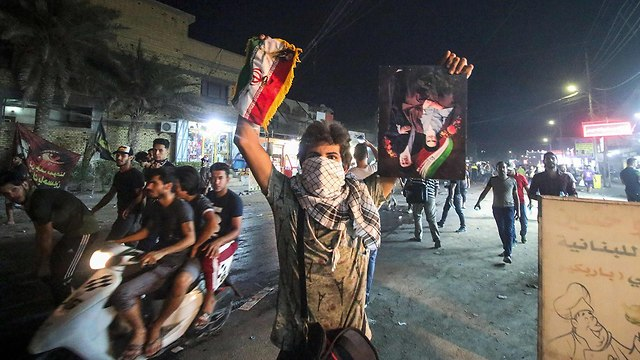 Riots outside the Iranian Embassy in Basra, Iraq, in 2018 (Photo: AFP)