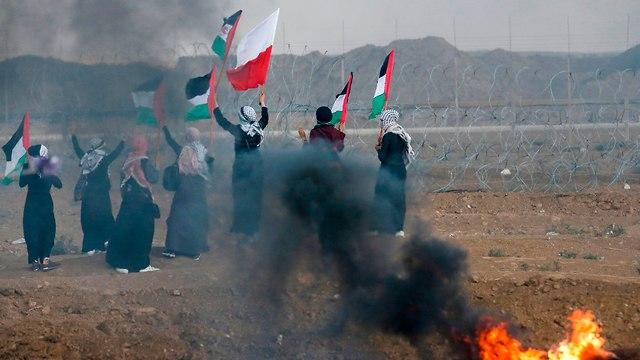 עימותים התפרעויות רצועת עזה פלסטינים גבול צה