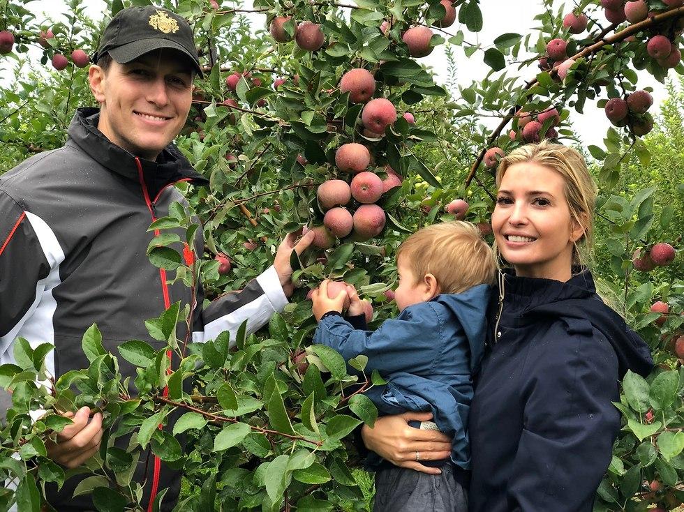Senior White House advisor and the US president's daughter Ivanka Trump and her husband  Jared Kushner