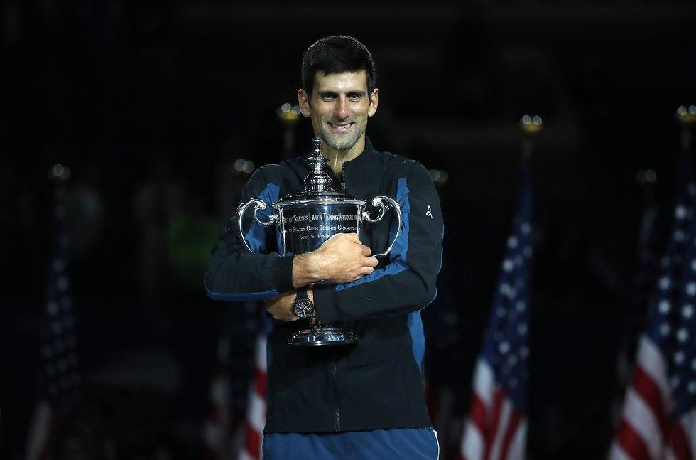 נובאק ג'וקוביץ' גמר אליפות ארצות הברית (צילום: AFP)