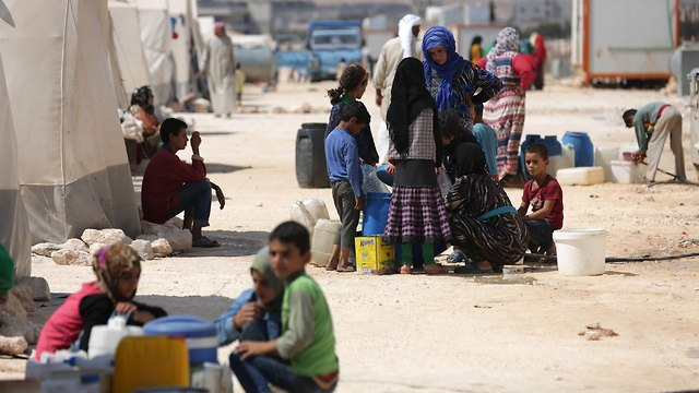 Internally displaced Syrians in Idlib (Photo: AFP) (Photo: AFP)