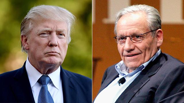 בוב וודוורד ודונלד טראמפ (צילום: MCT, AFP)