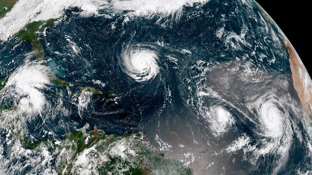 הוריקן פלורנס (צילום: gettyimages)