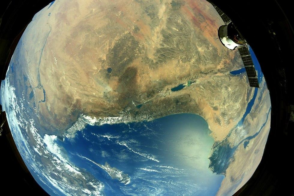 ישראל והמזרח התיכון  (צילום: ריצ'רד ארנולד, נאס