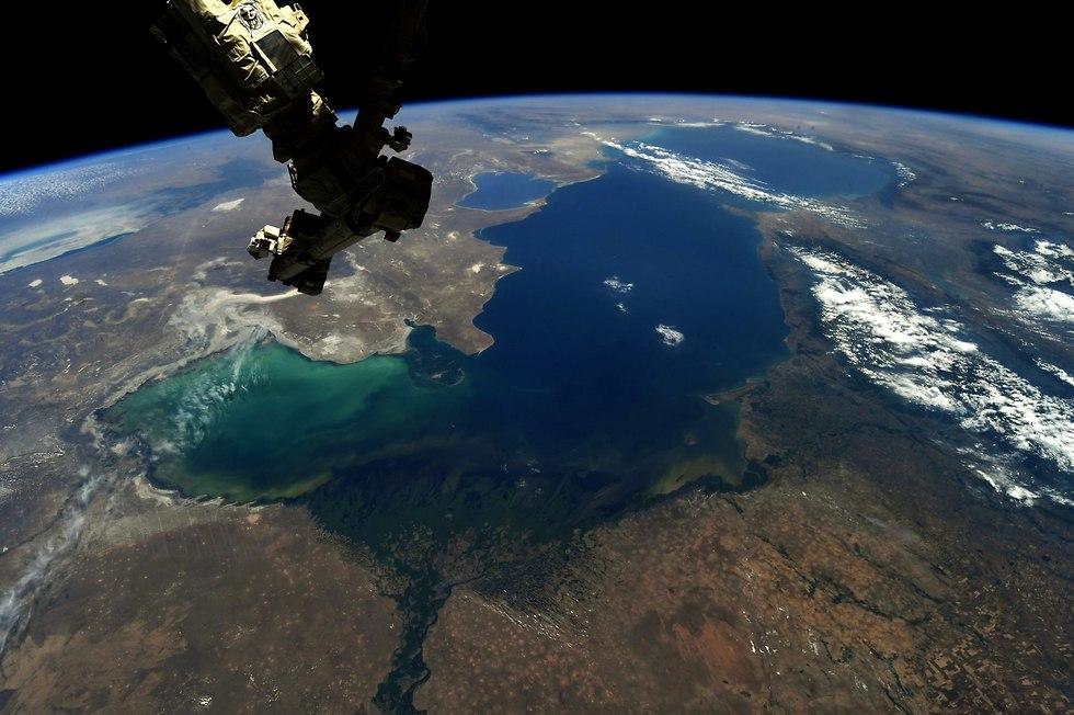 הים הכספי (צילום: ריצ'רד ארנולד, נאס