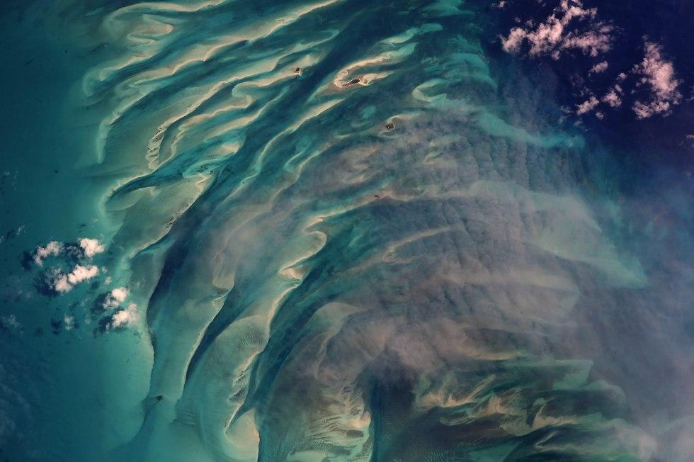 איי בהאמה (צילום: ריצ'רד ארנולד, נאס