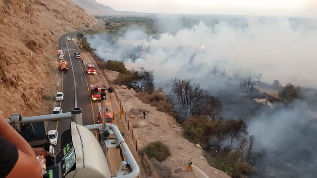 Highway 90 closed to traffic  (Photo: Firefighters spokesman)