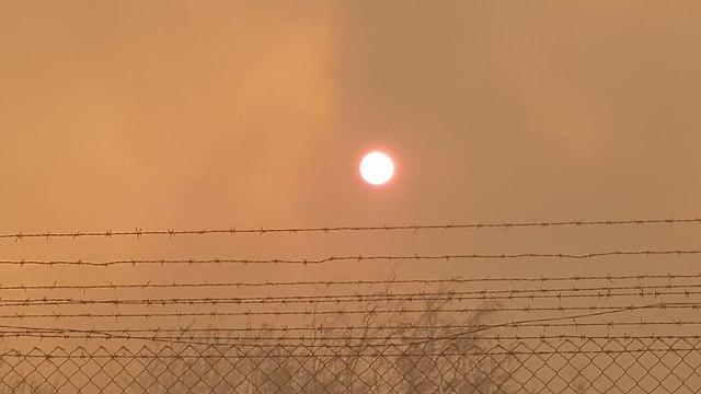 Пожар в заповеднике Эйнот-Цуким. Фото: пресс-служба Совета Иудеи и Самарии