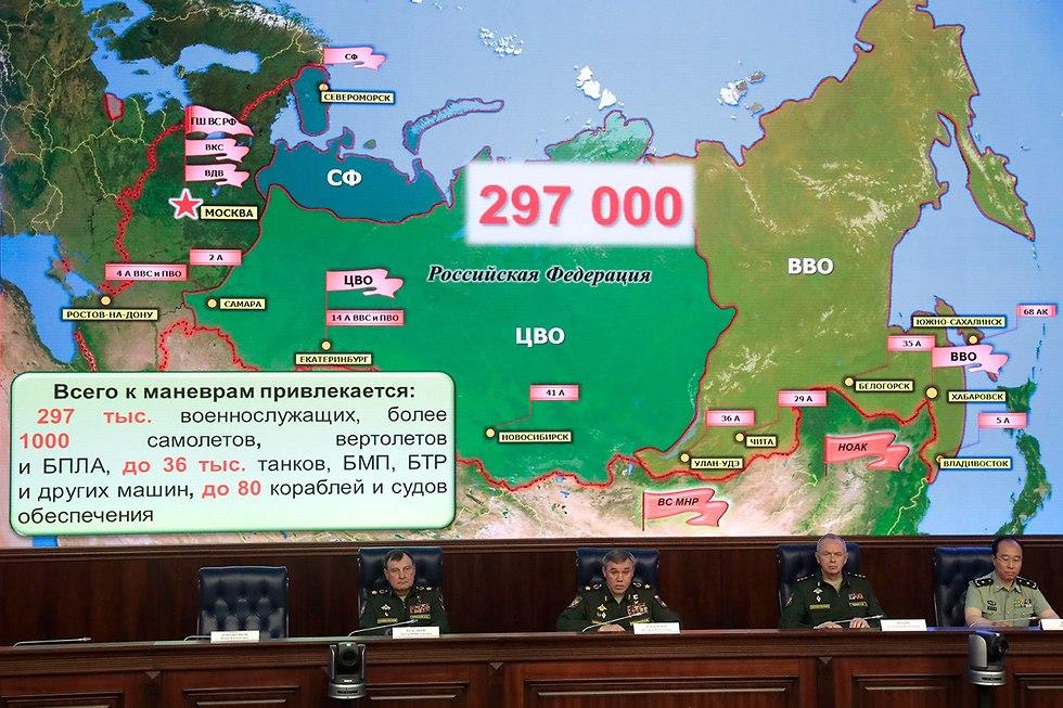 תרגיל צבאי ב רוסיה  (צילום: AFP)