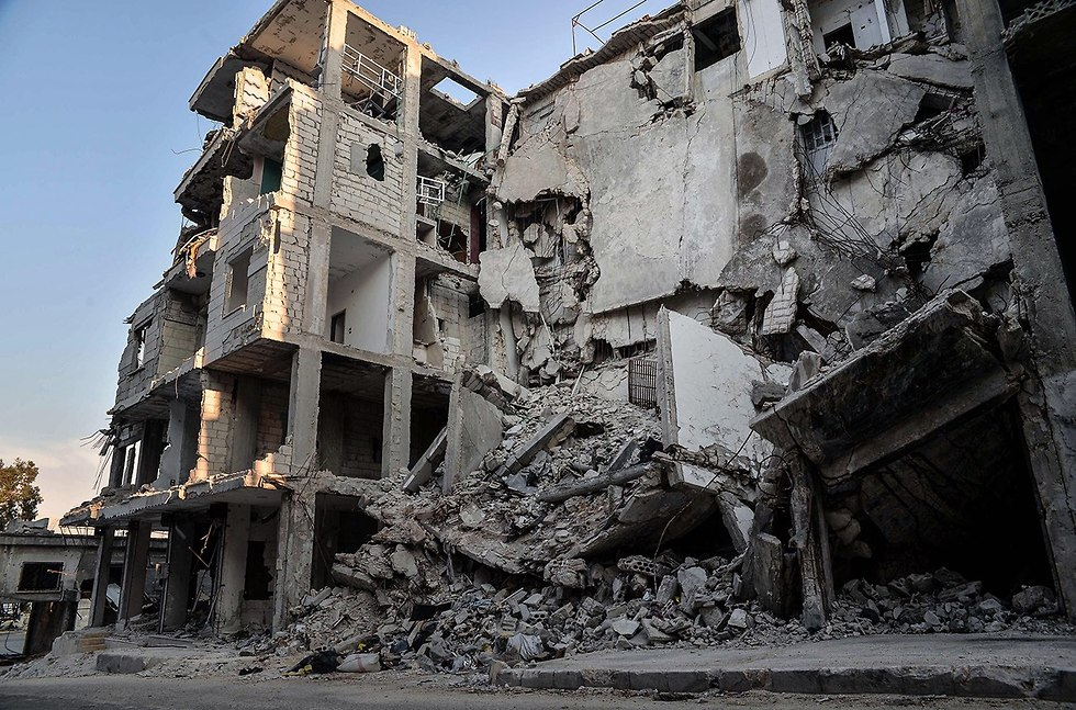 Destruction caused by Syrian regime bombing in Idlib province (Photo: MCT)