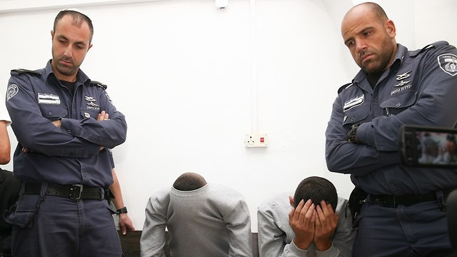 Suspects in court (Photo: Ohad Zwigenberg)
