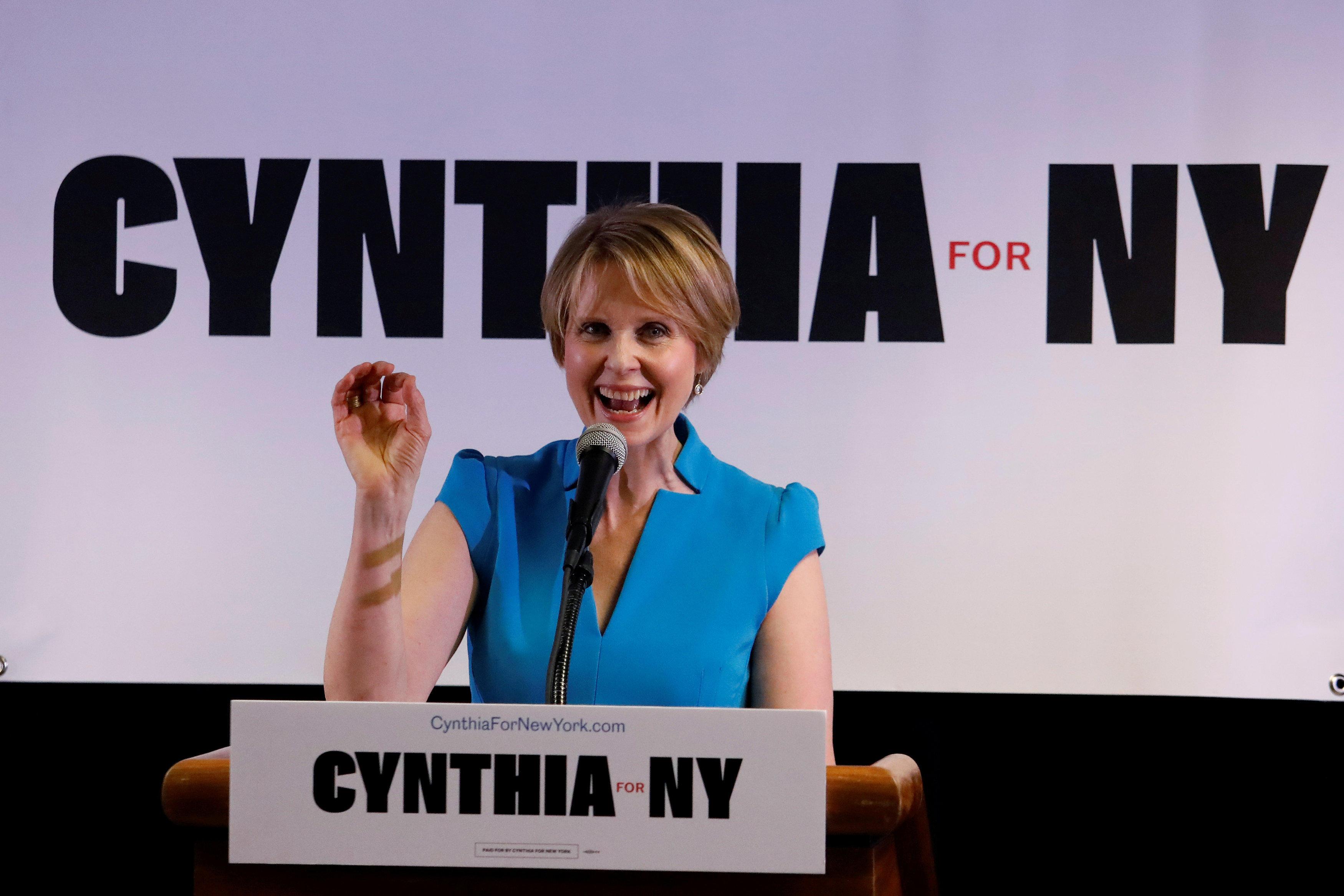Cynthia Nixon (Photo: Reuters)