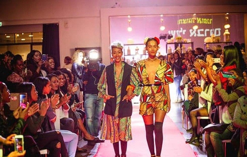 נשים אתיופיות בתצוגת אופנה (צילום: גדעון אגז'ה)