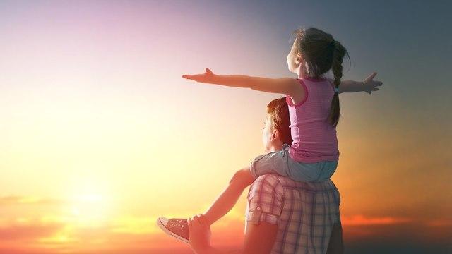 ילדה ואבא (צילום: shutterstock)