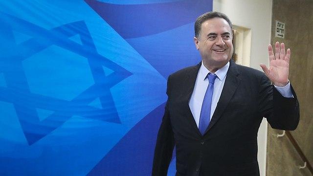 ישראל כץ ישיבת ממשלה (צילום: מארק ישראל סלם )