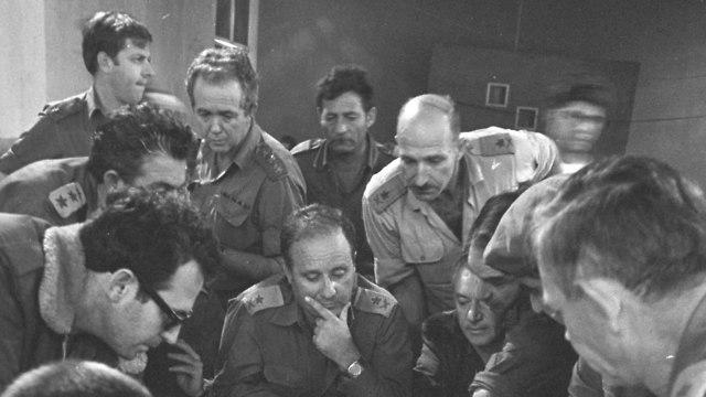 מפקדת פיקוד צפון ב מלחמת יום הכיפורים מלחמה יום כיפור  (צילום: במחנה ובאדיבות ארכיון צה
