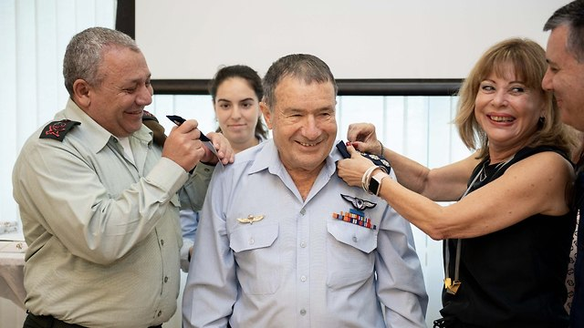 Epstein receiving his new rank (Photo: IDF Spokesperson's Unit)