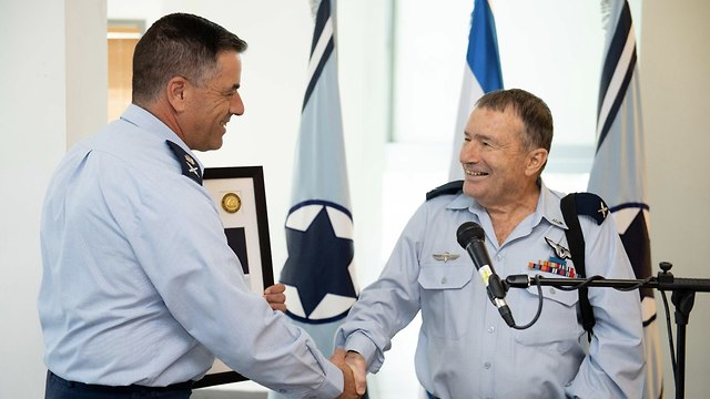 Maj. Gen. Amikam Norkin and Brig. Gen Giora Epstein (Photo: IDF Spokesperson's Unit)