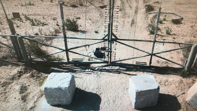 Explosive device near the border fence (Photo: IDF Spokesperson's Unit)