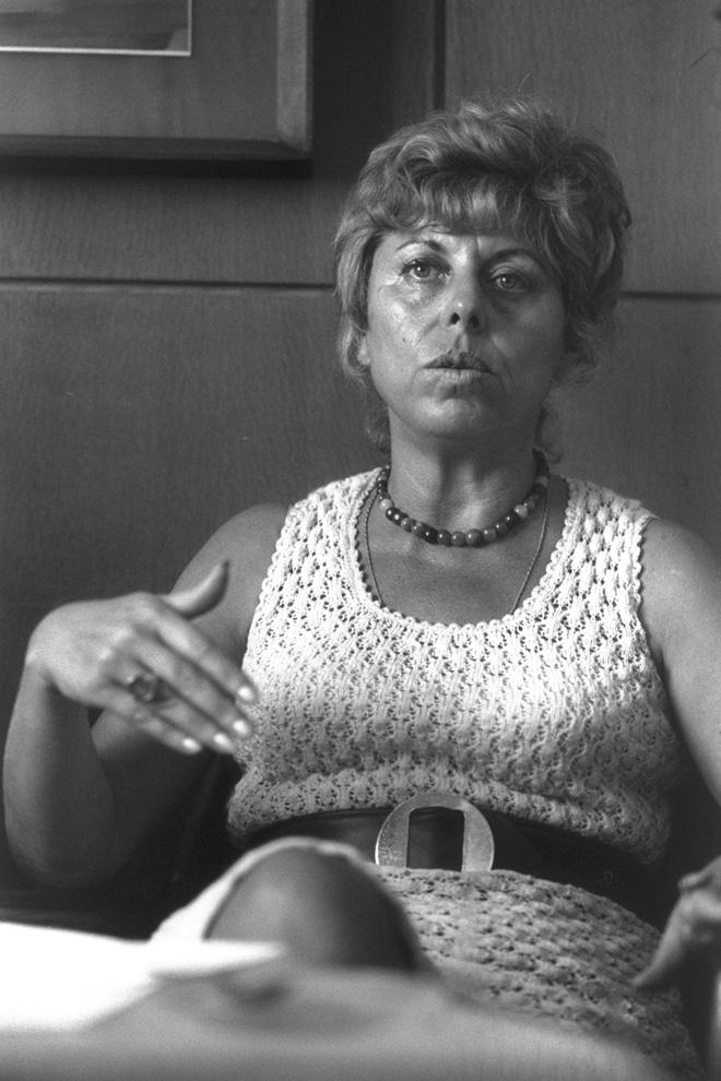 """אלוני בשנות ה-60. הייתה ידועה ביושר וביושרה (צילום: הרמן חנניה, לע""""מ)"""