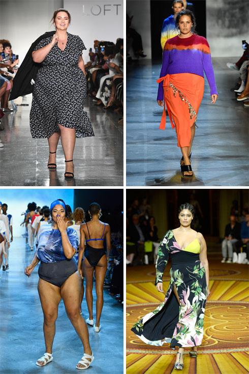 כבר לא מחזה נדיר על המסלולים. דוגמניות פלאס סייז בשבוע האופנה של ניו יורק (צילום: Frazer Harrison/GettyimagesIL)