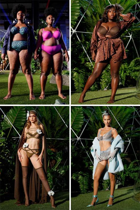 הלבשה תחתונה לכל מידה. התצוגה של ריהאנה x פומה (צילום: JP Yim,Brian Ach/GettyimagesIL)
