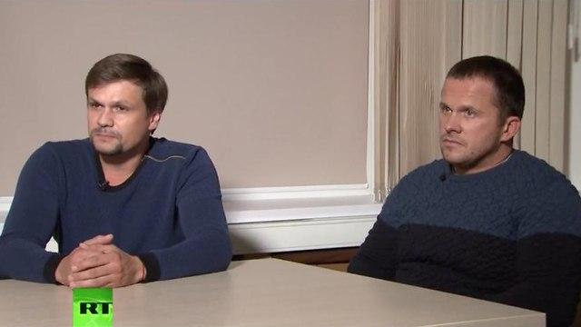 רוסיה ראיון עם אלכסנדר פטרוב ו רוסלן בושירוב הנאשמים בהרעלת סרגיי סקריפל בריטניה ()