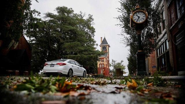 הוריקן פלורנס בניו ברן (צילום:  רויטרס)