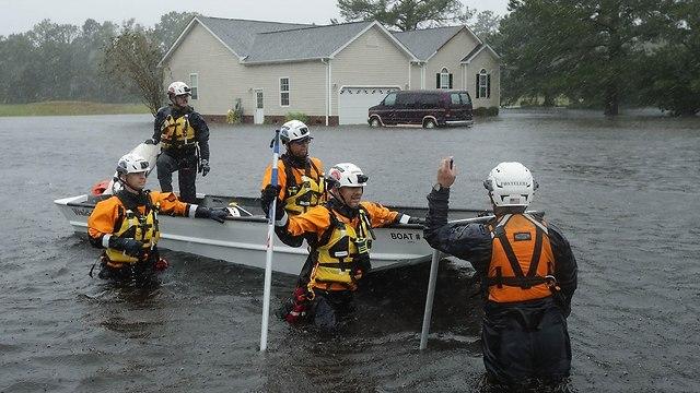 הוריקן פלורנס בניו ברן (צילום: AFP)