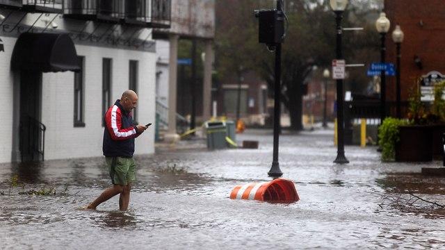 הוריקן פלורנס בניו ברן (צילום: EPA)