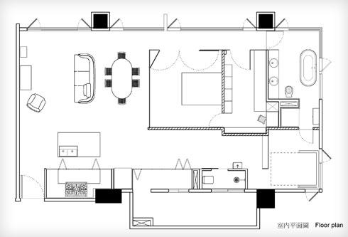 התוכנית החדשה. שני כיווני אוויר וחדר שינה במרכז (שרטוט: PhoebeSaysWow Architects Ltd)